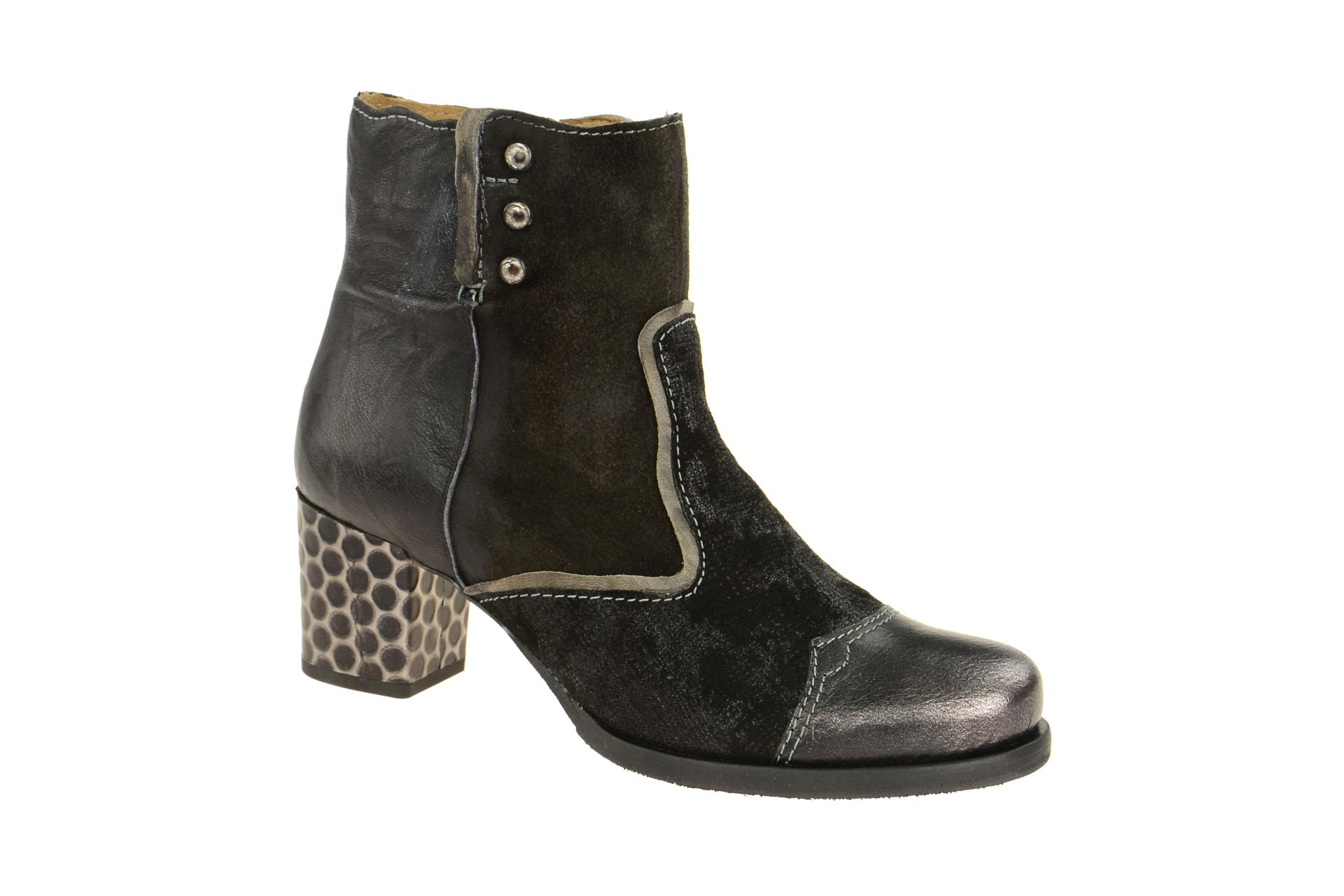 wholesale dealer c376f 9c866 Charme Stiefelette schwarz grau effekt