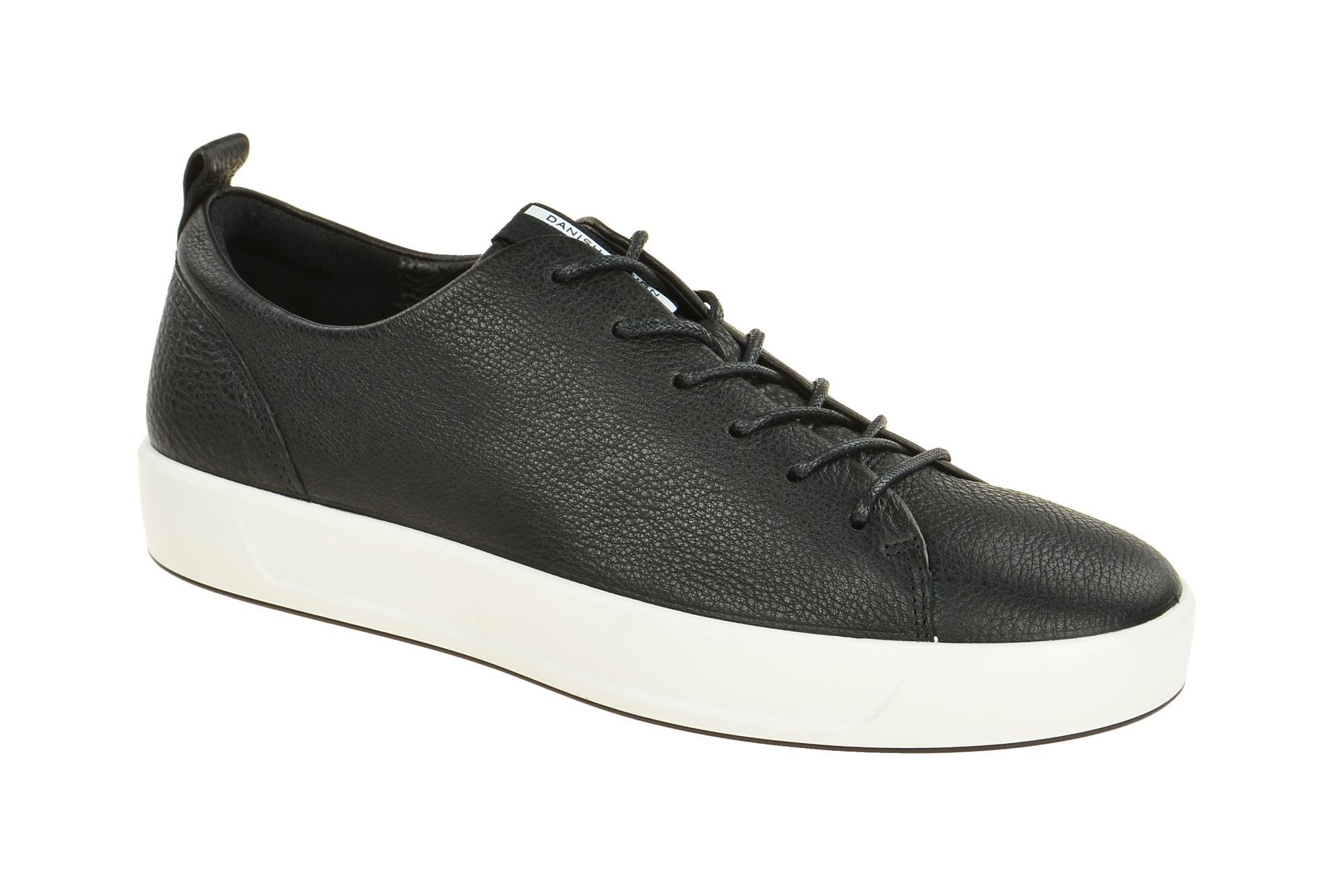 5d9c431428f917 Ecco Soft 8 Schuhe schwarz weiß Herren - Schuhhaus Strauch Shop