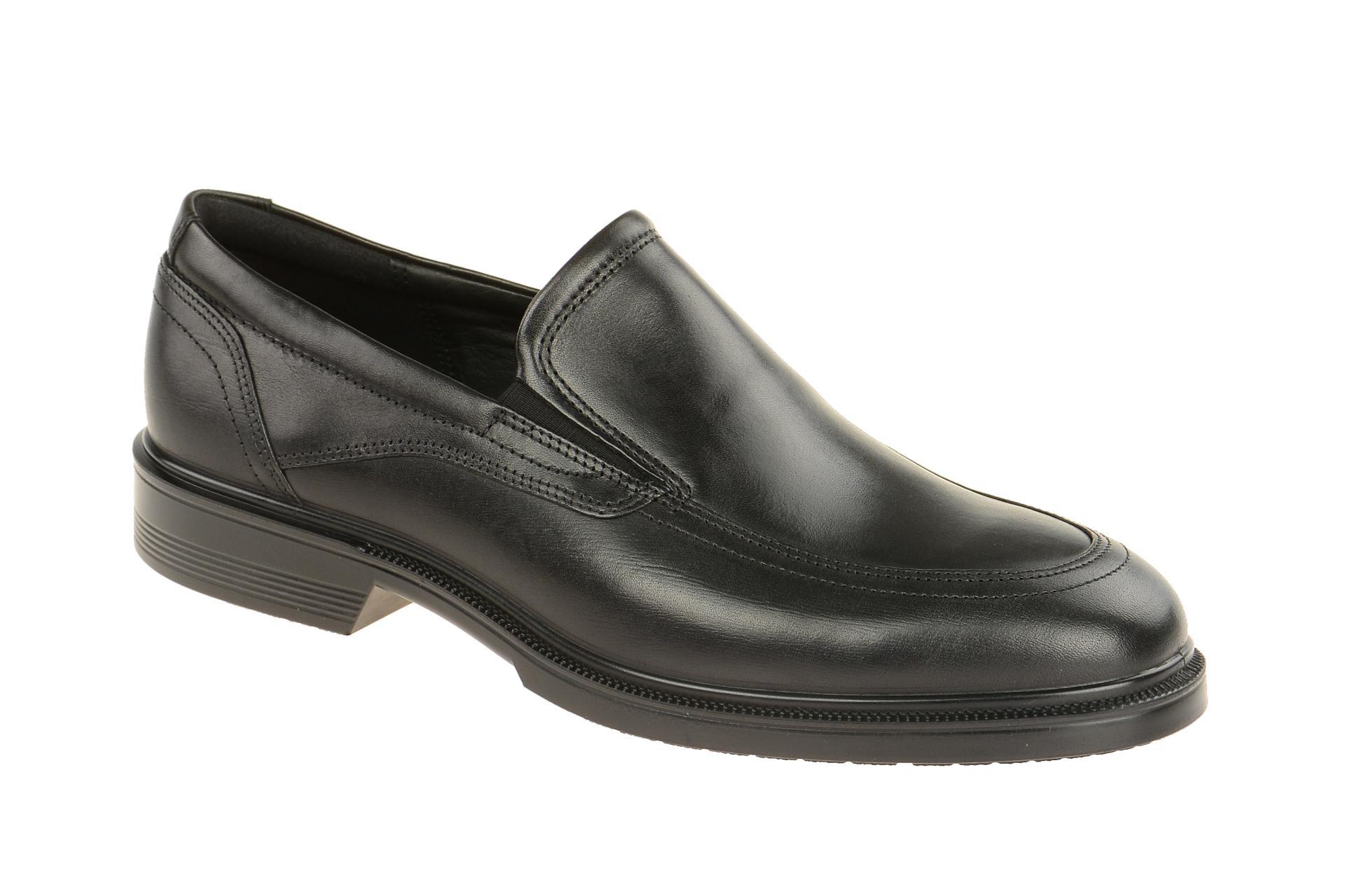 Ecco LISBON Herrenschuhe elegante Slipper Halbschuhe schwarz NEU