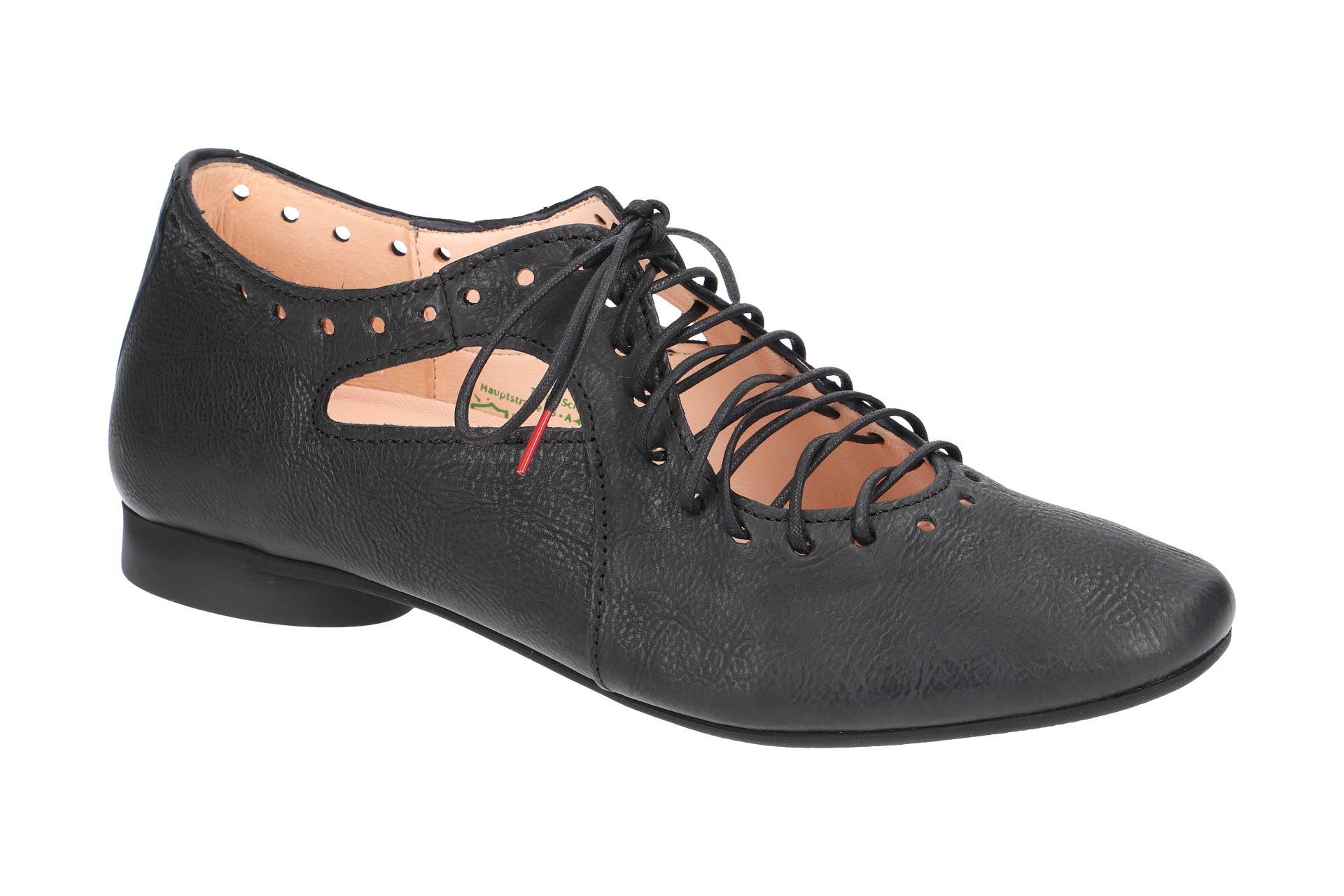 Think GUAD Damen zapatos  - Halb elegante Schnür- Halb - zapatos  schwarz NEU fd3f6e