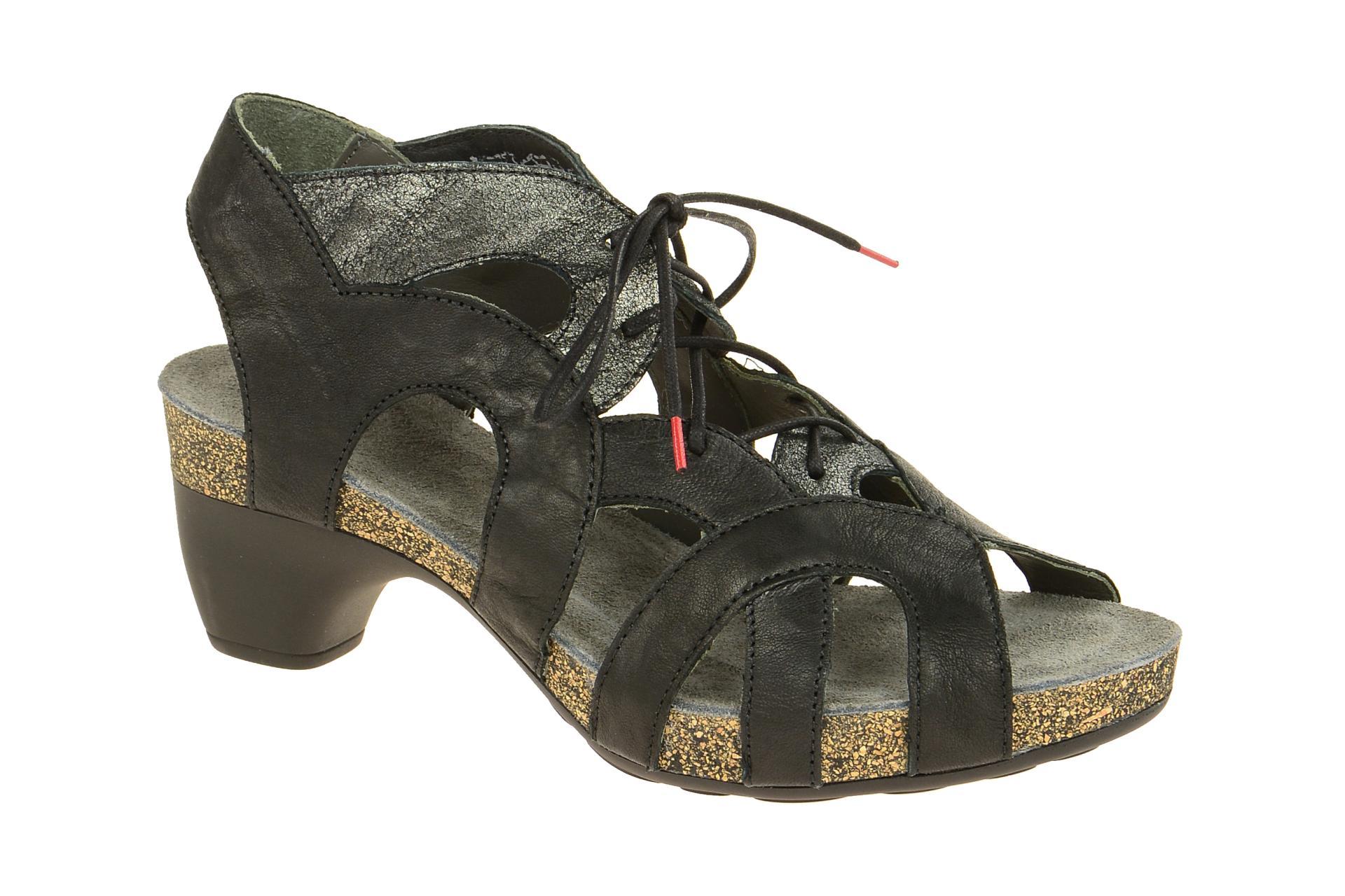 think schuhe traudi schwarz damen sandale sandaletten 2 82576 09 neu ebay. Black Bedroom Furniture Sets. Home Design Ideas