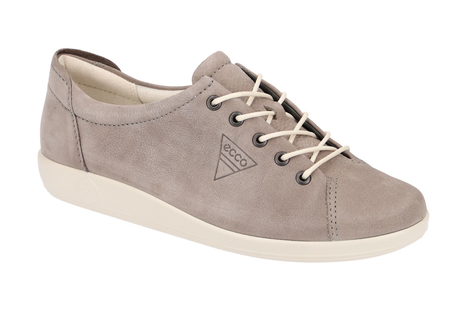 04754e3825829e Ecco Soft 2 Schuhe grau weiß NEU - Schuhhaus Strauch Shop