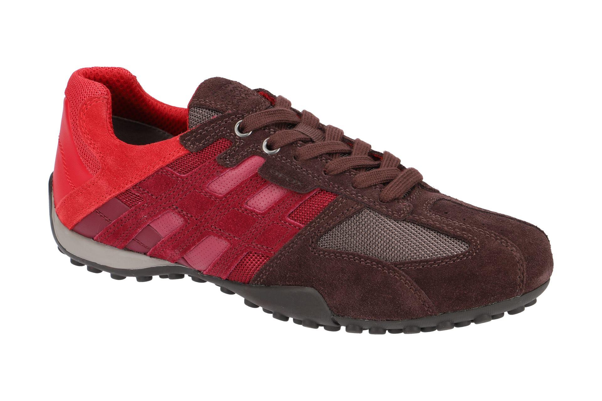 e0883f8b3d4398 Geox Schuhe SNAKE rot Herrenschuhe Sneakers U8207E 02214 C7J7W NEU ...