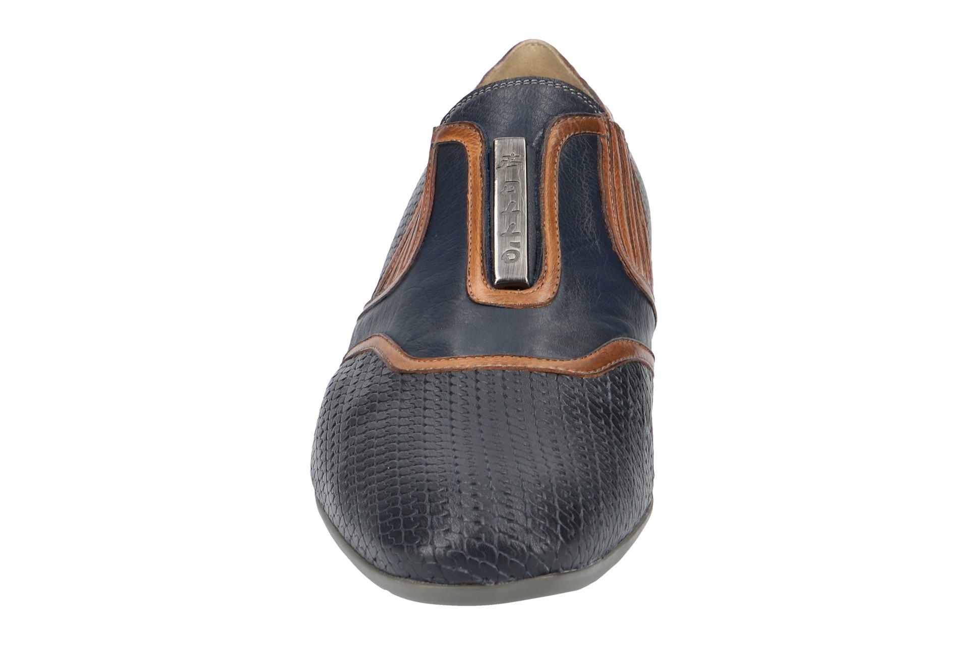 Slipper Bl308 Elegante Herrenschuhe Zu Neu Bello Blau Schuhe Navy Details yf67gYb