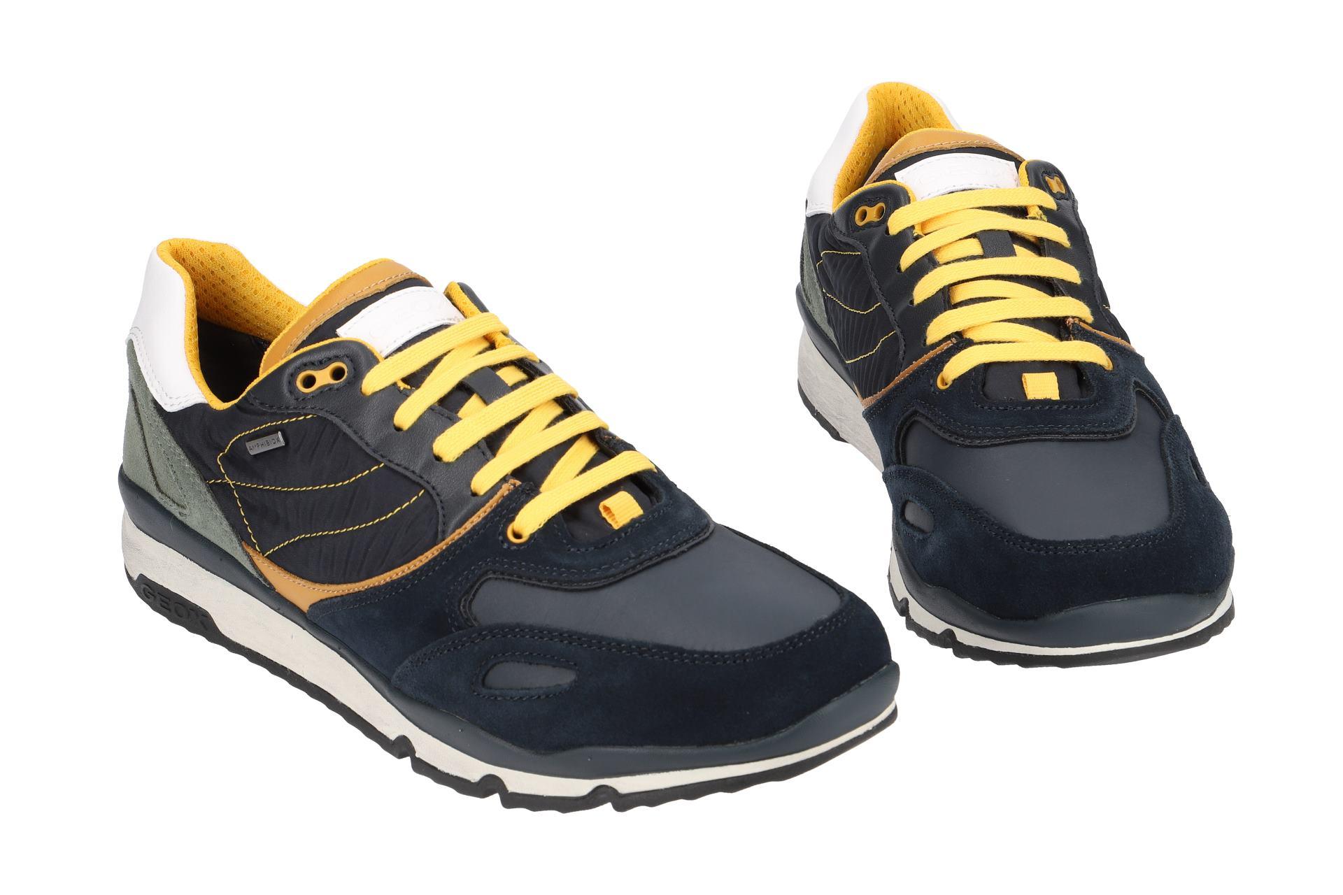 Details zu Geox Schuhe SANDFORD ABX blau Herrenschuhe Sneakers U44S7A 022FU C4007 NEU