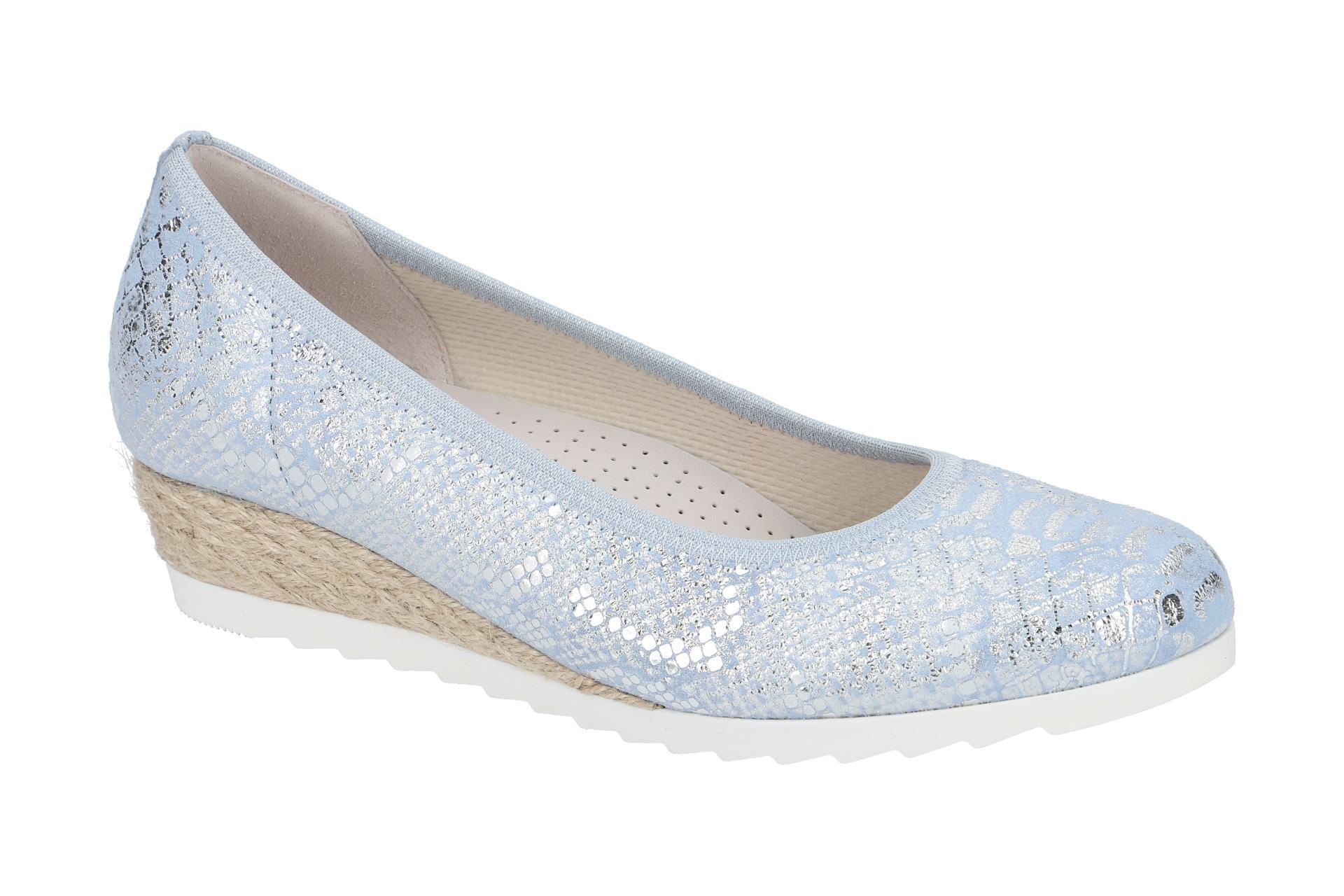 Details zu Gabor Schuhe GENUA blau Ballerinas Damen Halbschuhe 82.641.13 NEU