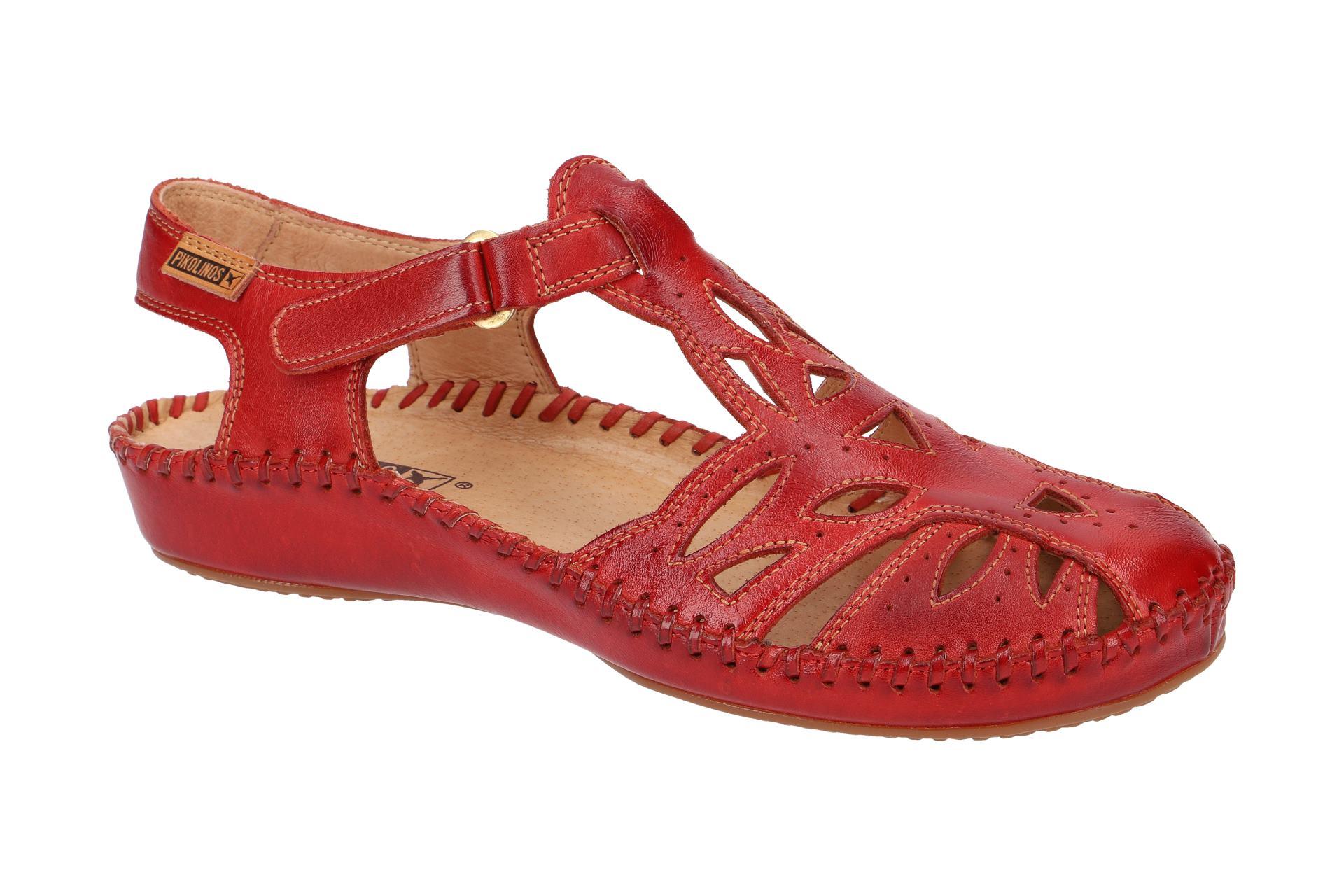 Pikolinos Schuhe P. VALLARTA rot Damen Sandale Sandaletten 655 8312 coral NEU