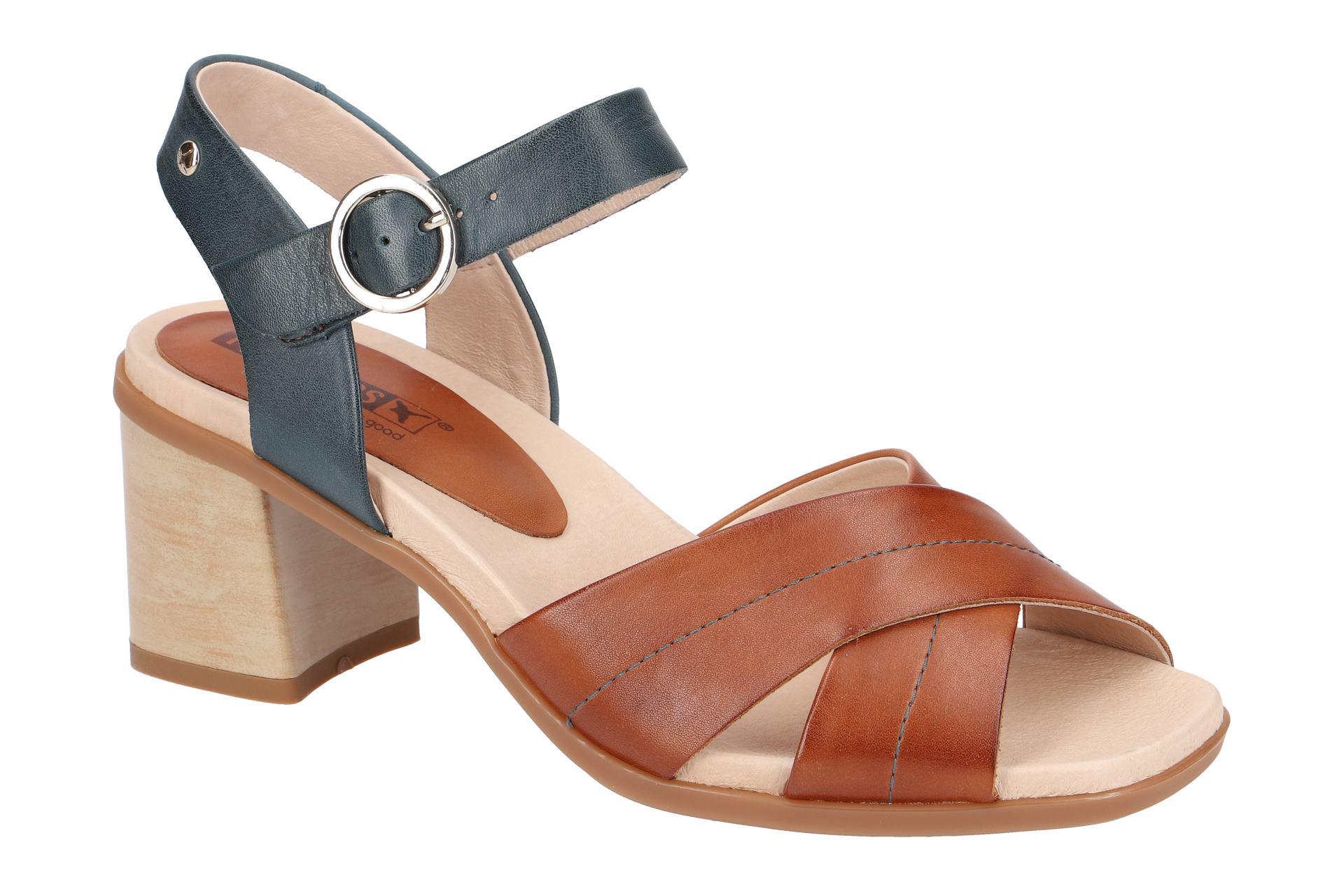 Pikolinos DENIA Damen Sandalette - Riemchen Sandalen braun NEU