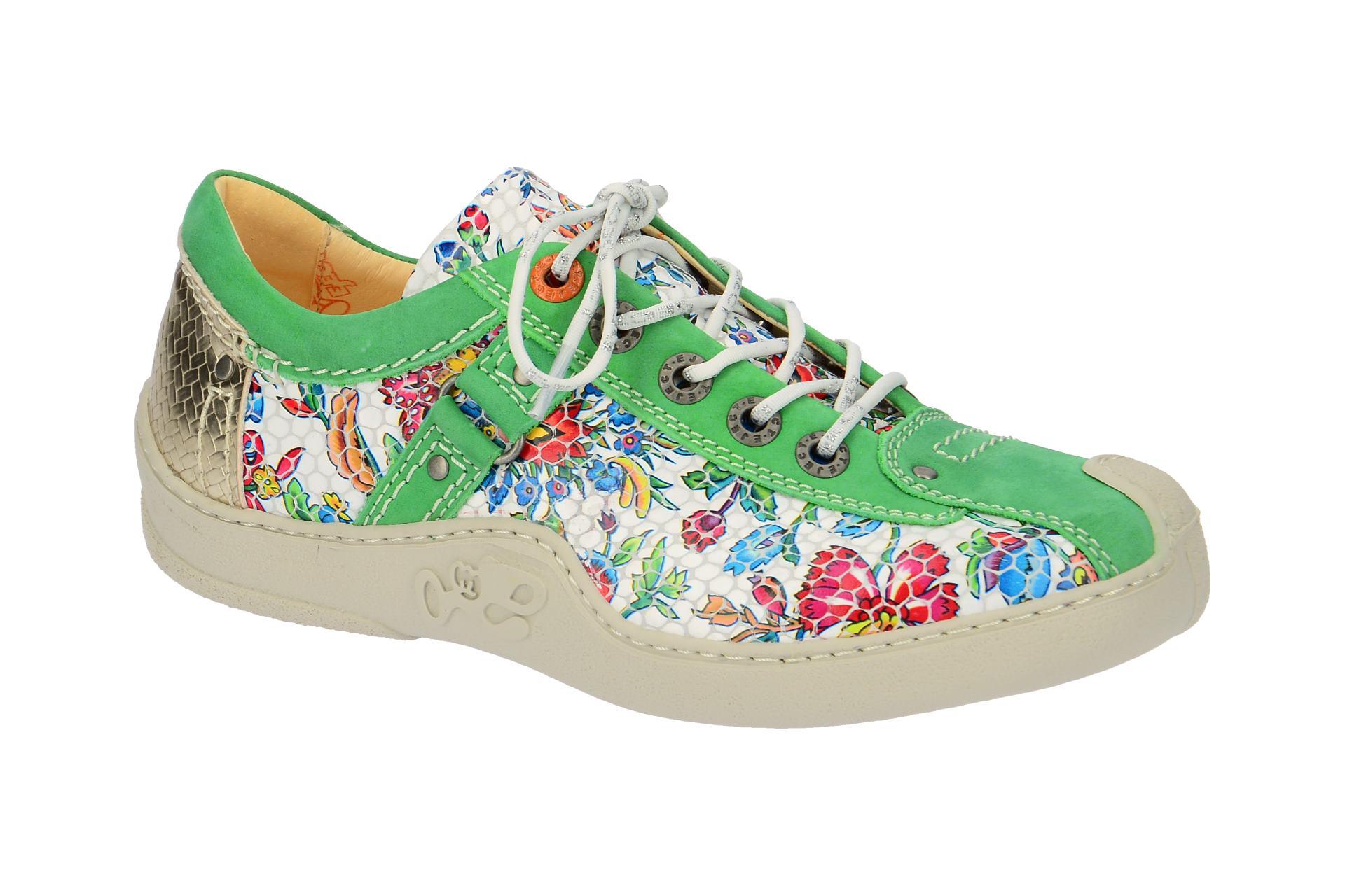 Eject Aura Schuhe grün Blumen Muster 63Bn5oa