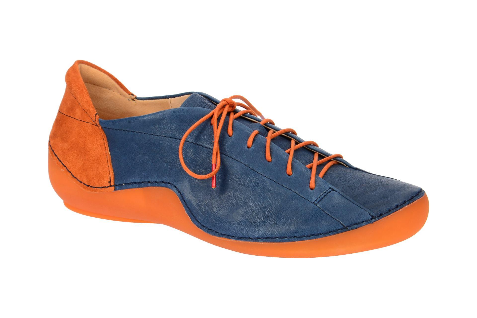 849d2f287f62cd Think Schuhe KAPSL blau Damenschuhe sportliche Schnür-Halbschuhe 2-82062-90  NEU