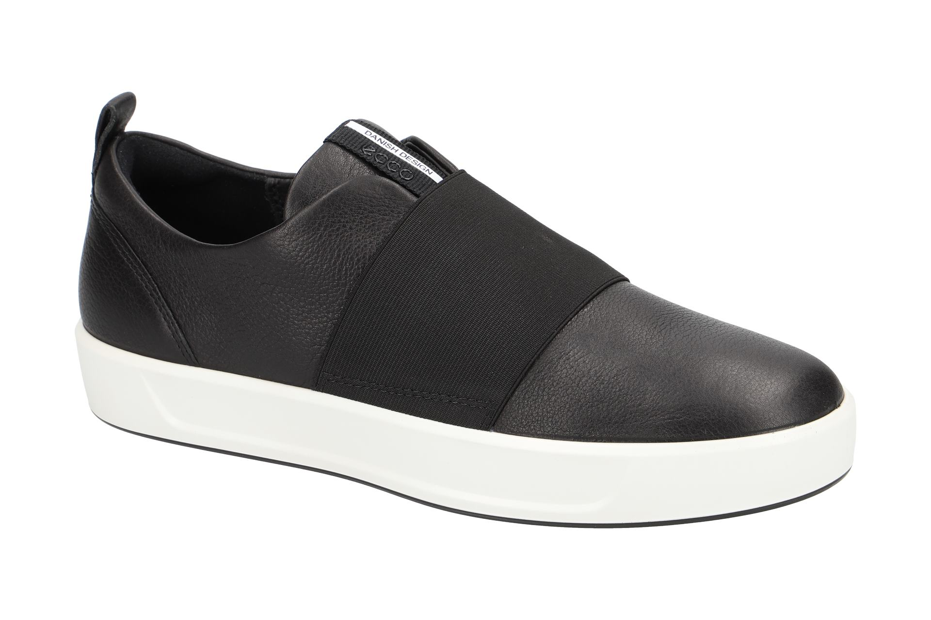 Sportliche Ecco 8 Slipper Schuhe Schwarz Ladies Soft Damenschuhe wq8FqC