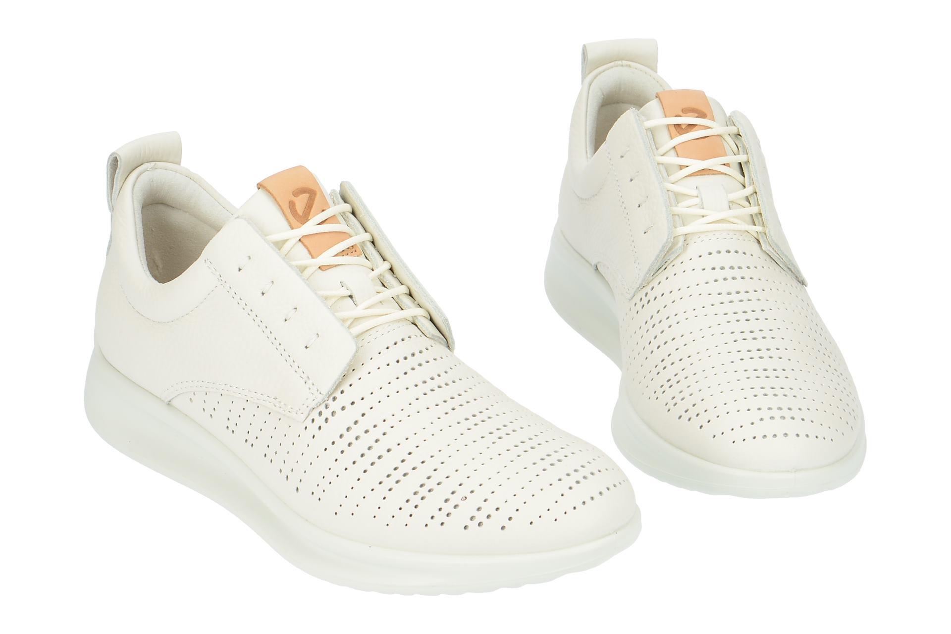 49256ab902b3bc Ecco Schuhe AQUET weiß Damenschuhe sportliche Schnür-Halbschuhe 20700301007  NEU