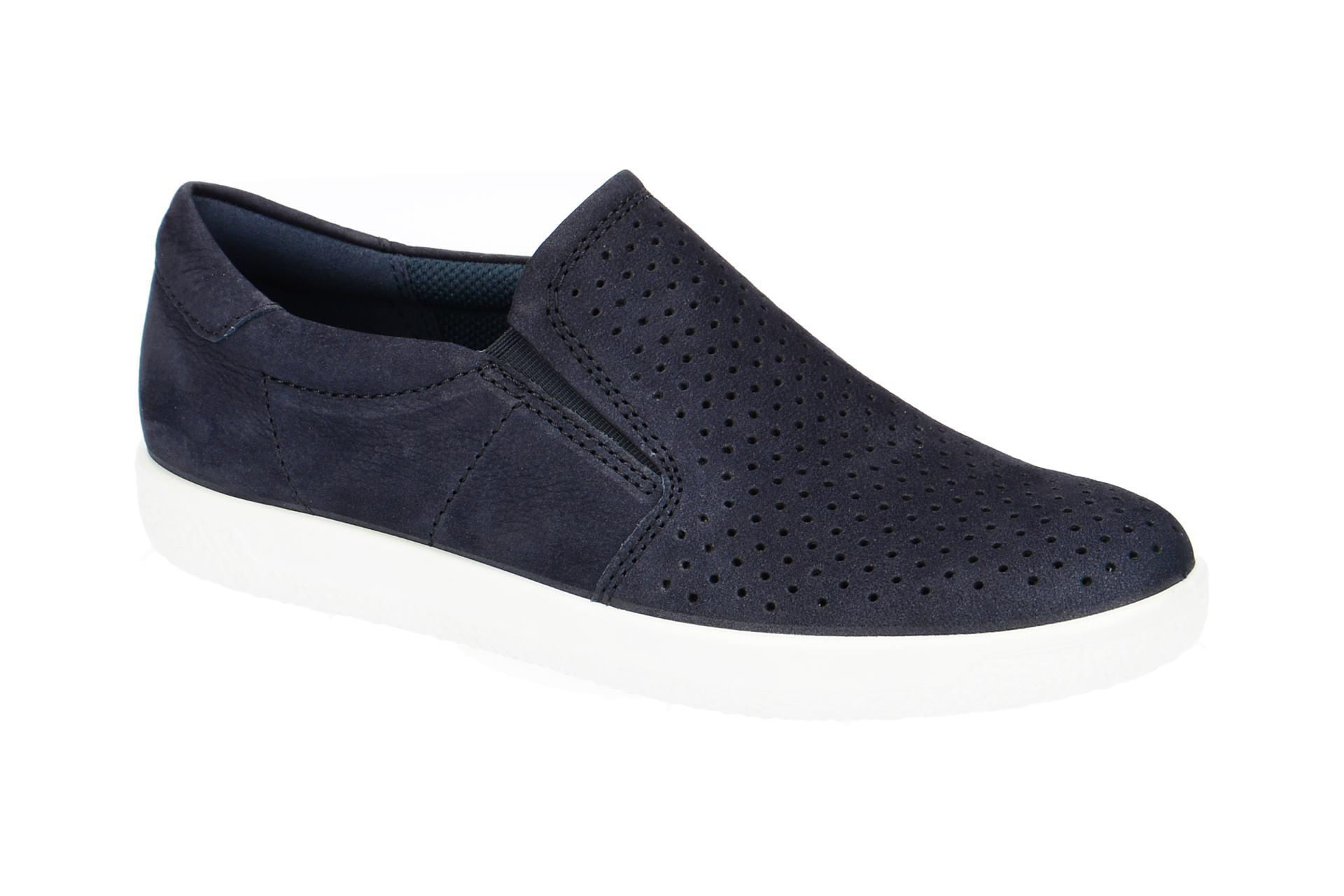 new style 5ae7c 7f6a2 Details zu Ecco Schuhe SOFT 1 LADIES blau Damenschuhe sportliche Slipper  40055302303 NEU