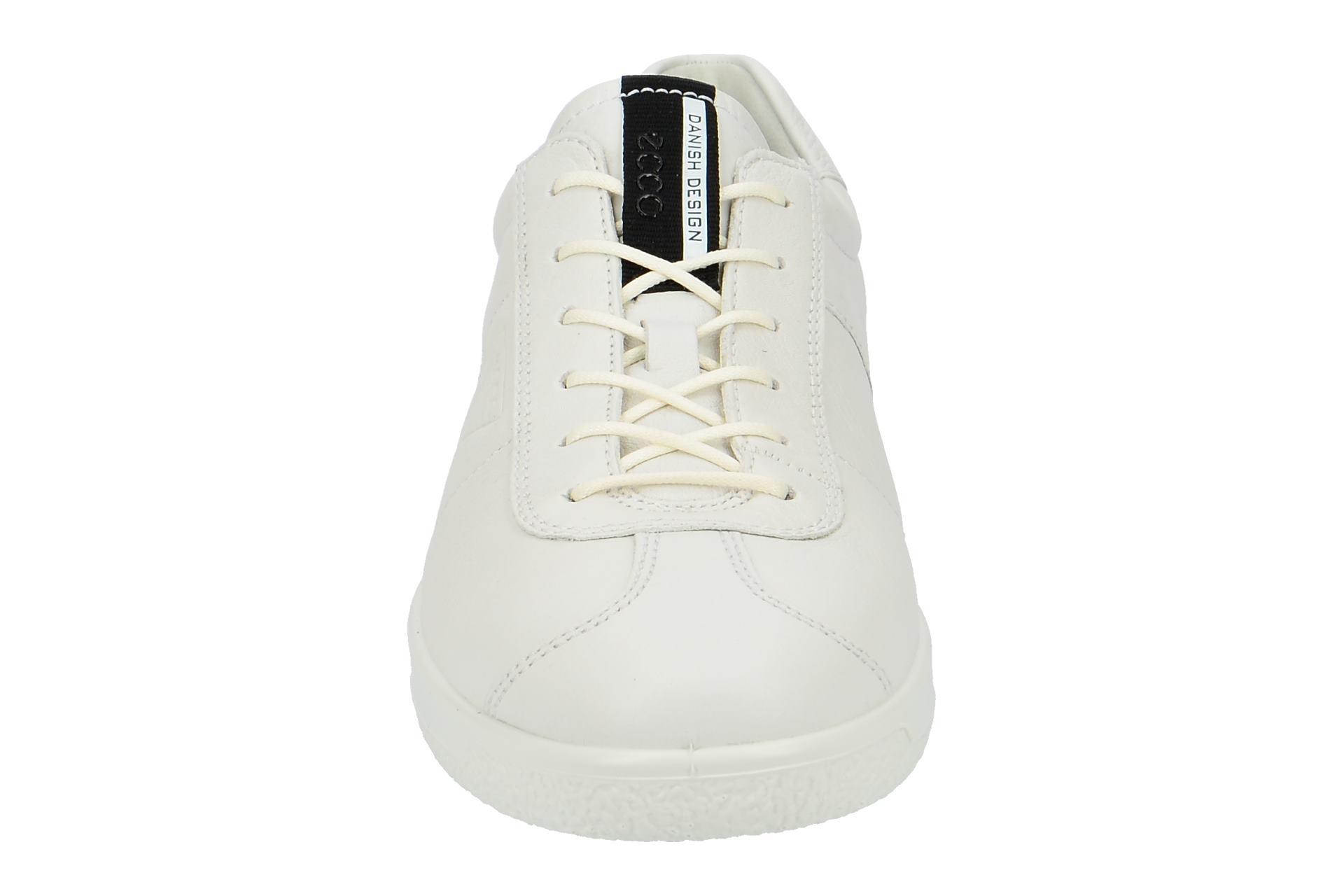 Details zu Ecco Schuhe SOFT 1 MEN`S weiß Herrenschuhe bequeme Schnür Halbschuhe 40051401002