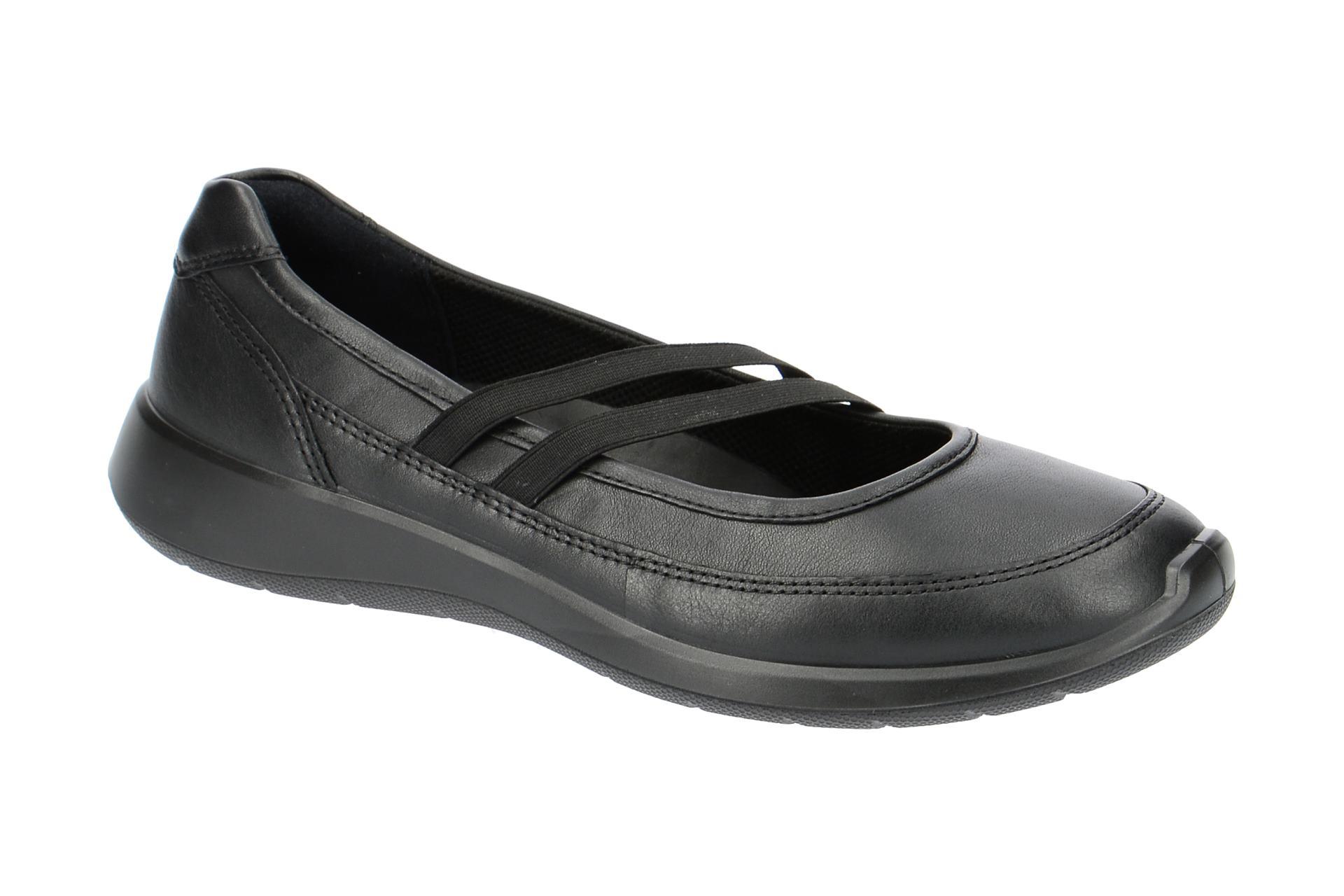 Ecco SOFT 5 Ballerina - Halbschuhe - Slipper für Damen in schwarz - 28318301001 utd5B