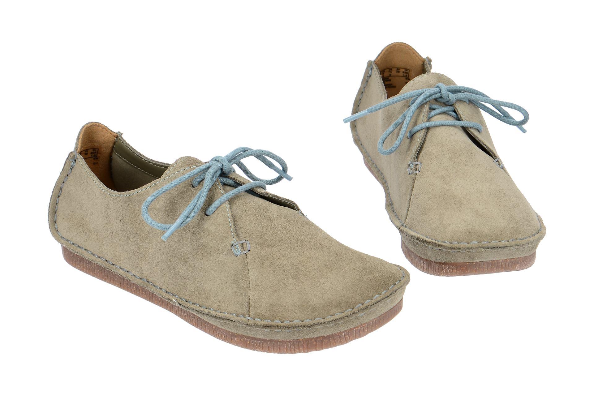 0d325f40396e Clarks Schuhe JANEY MAE grau Damenschuhe bequeme Schnür-Halbschuhe 26132339  4