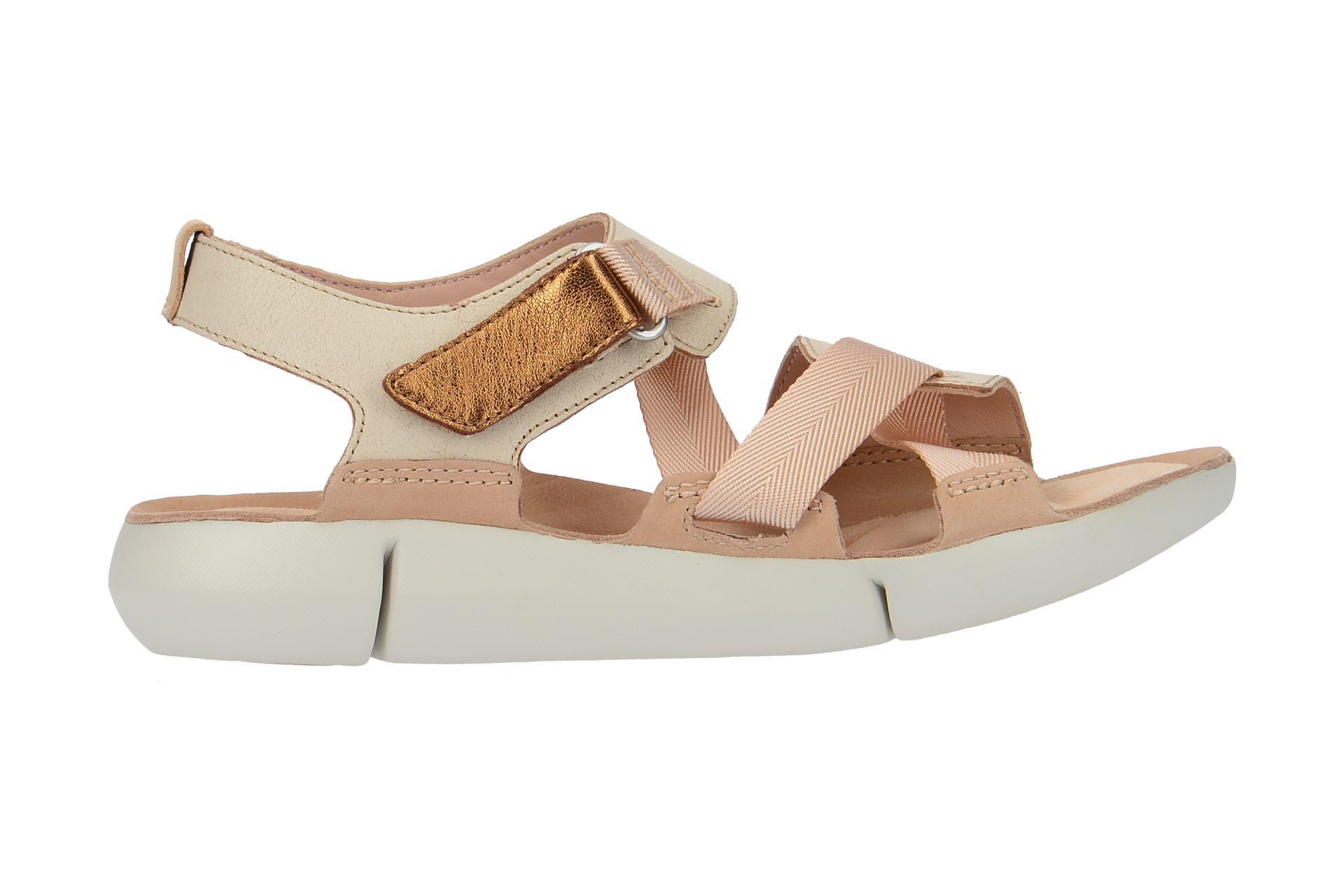 Clarks TRI CLOVER Sandalette für Damen in beige - 26131275 4 2oKIjFrvj5