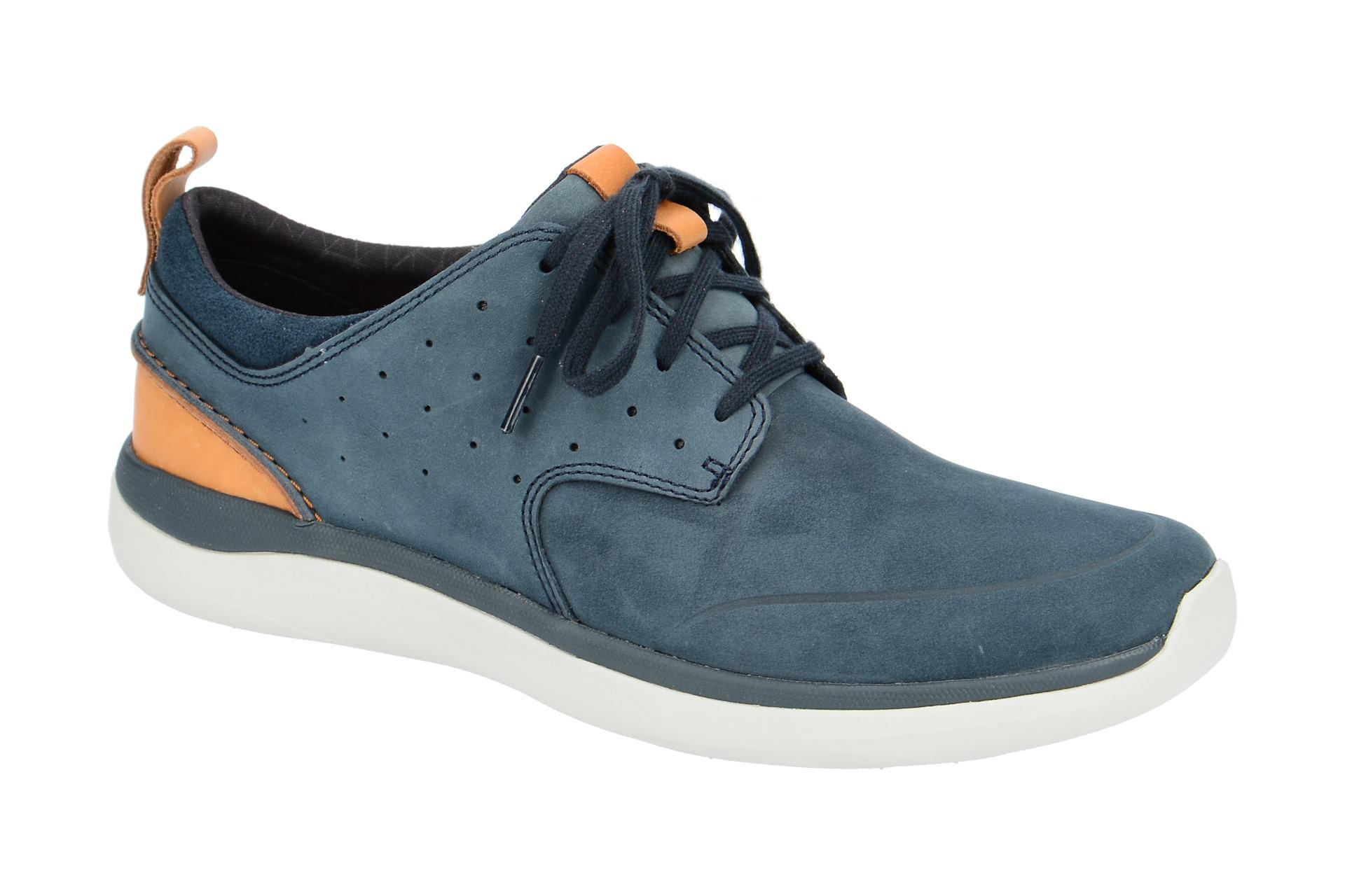 wholesale dealer c4c3a c935e Details zu Clarks Schuhe GARRATT LACE blau Herrenschuhe 26132295 7 NEU