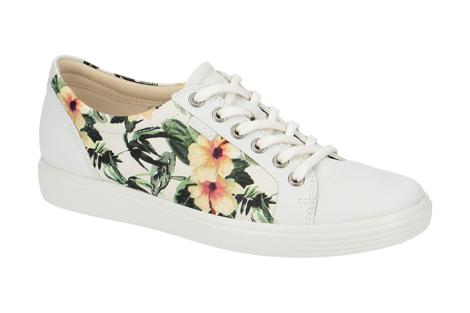 6faaf9016ccc46 Ecco Schuhe Soft 7 Ladies weiß Blumen - Schuhhaus Strauch Shop