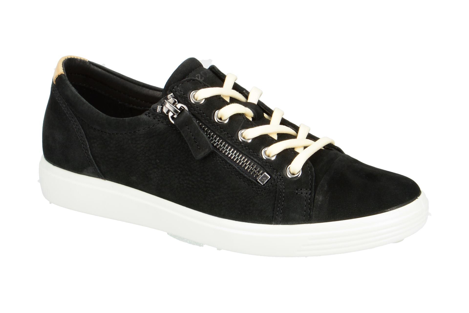 f1aa91a8a0e40e Ecco Schuhe SOFT 7 LADIES schwarz Damenschuhe Halbschuhe 43085302001 ...