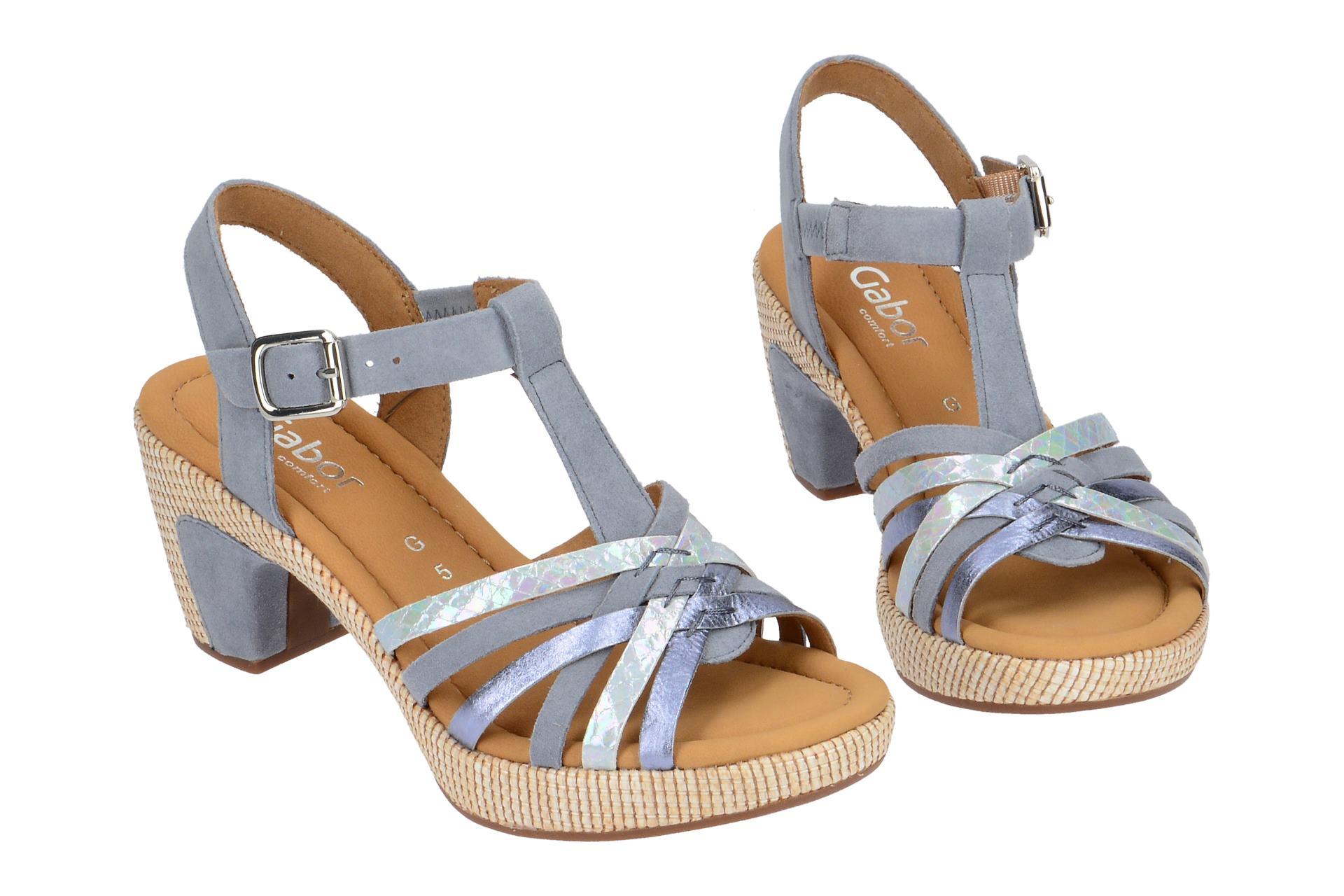 Auslass Manchester Großer Verkauf Gabor ST.TROPEZ Sandalette für Damen in hell-blau - 82.736.16 Verkauf Vermarktbare Erhalten Günstig Online Kaufen XaiV511