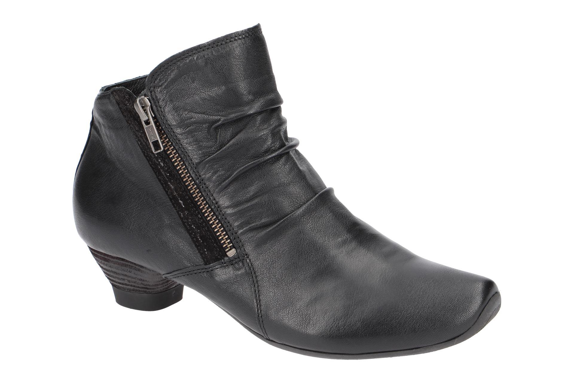Think Schuhe AIDA schwarz Damen Stiefeletten elegante Stiefelette 3-83267-09 NEU