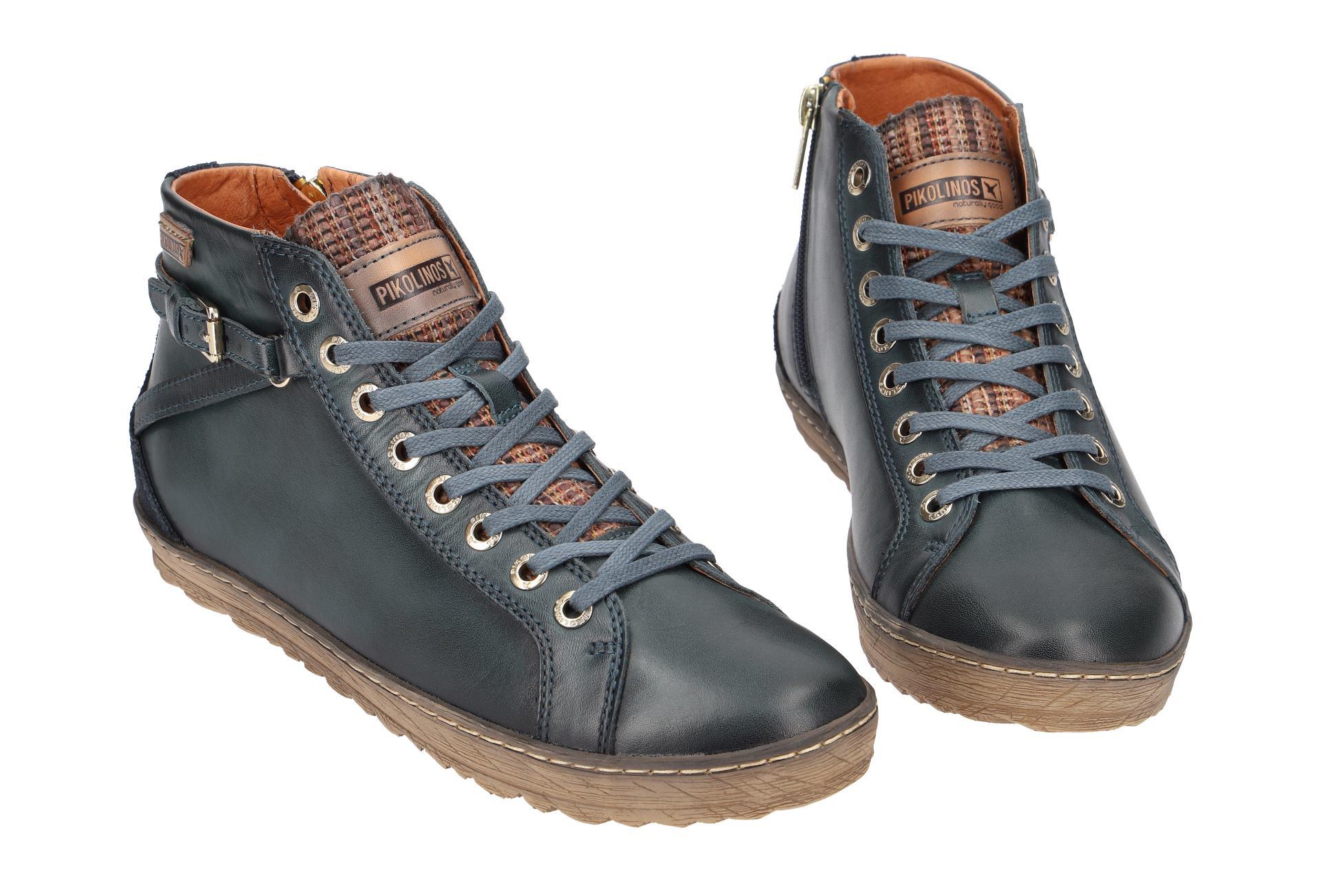 Details zu Pikolinos Schuhe LAGOS blau Damen Stiefeletten 901 7312 ocean cobalt NEU