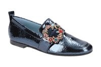 K&S Tara Slipper Schuhe blau gold multi