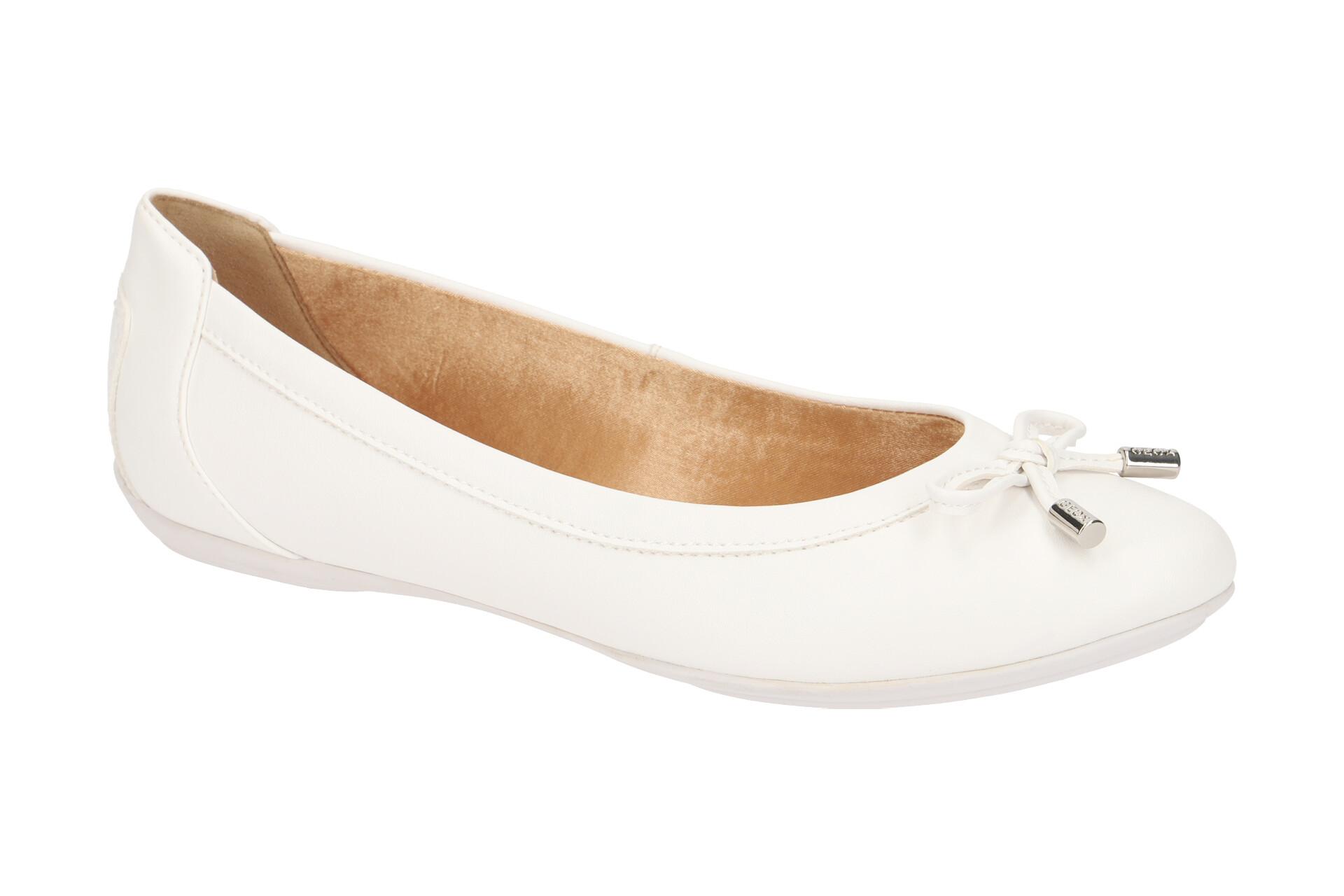 Geox Schuhe CHARLENE weiß Ballerinas Damen Halbschuhe D84Y7A 000BC C1405 NEU