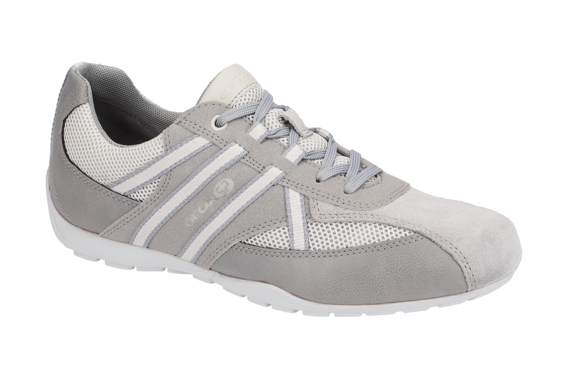 3c55bef6a9454 Geox RaveX Sneaker Schuhe ice grau U923FB - Schuhhaus Strauch Shop