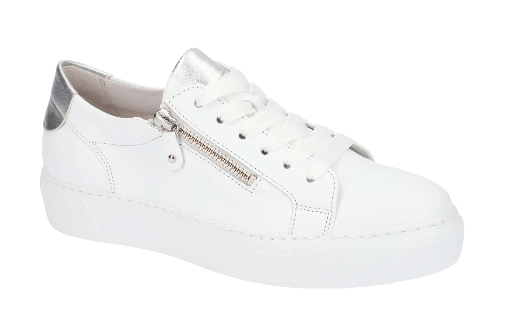 save off c6f3f 5425c Gabor Schuhe weiß silber Sneakers 23.314.21