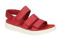 25deb3856e7603 Ecco Flowt Damen Sandale rot weiß