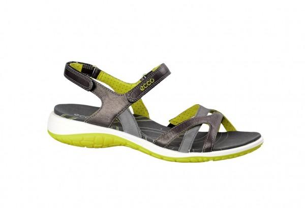 Ecco Kawaii Sandale in dunkelgrau gelb 82260358410