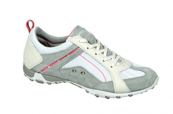 Geox Freccia Schuhe weiß grau Sportschuhe