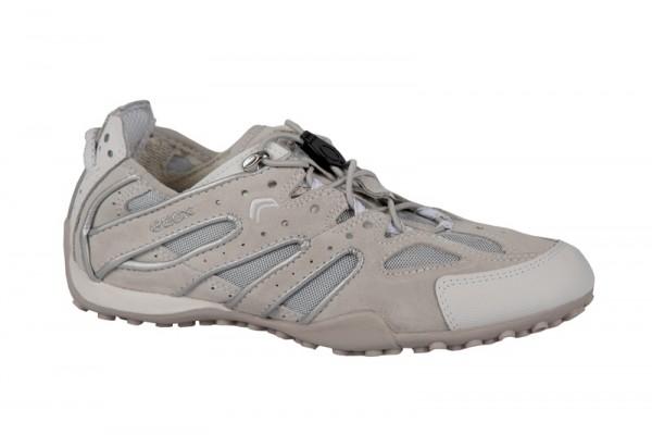 Geox Snake V Schuhe weiß beige Damen Sneaker