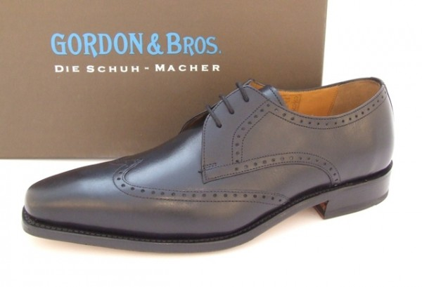 Gordon & Bros. 3199 Schuhe schwarz rahmengenäht