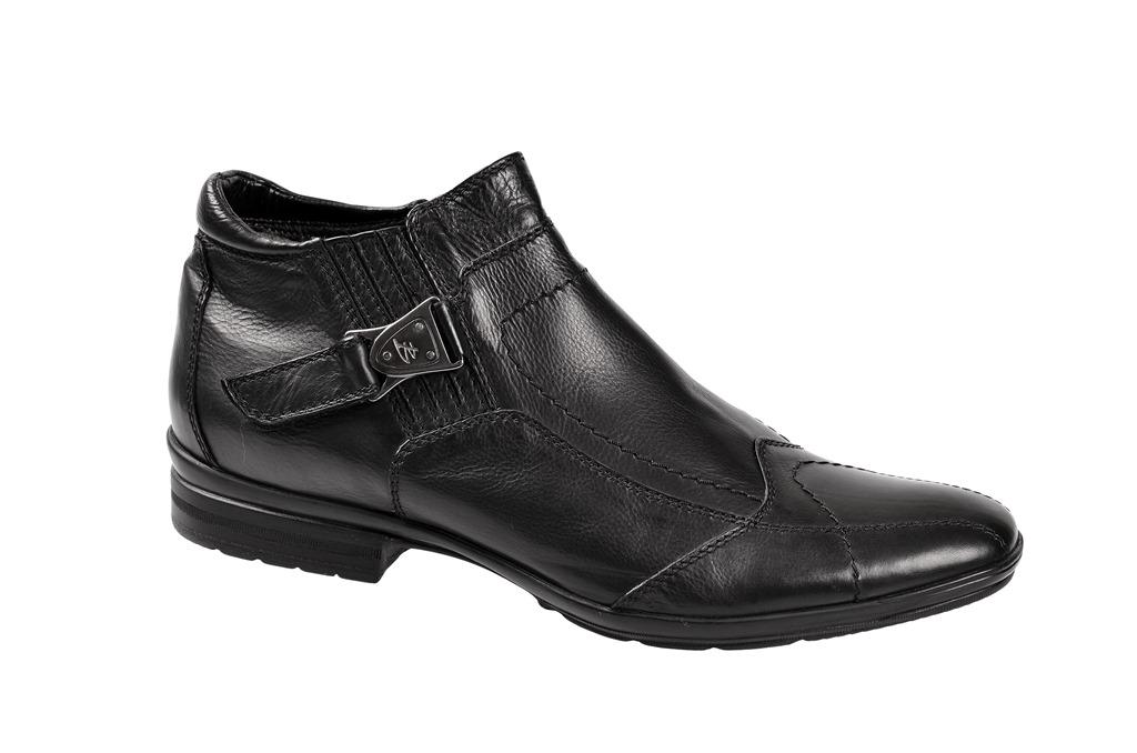 Bello Carezza Stiefelette in schwarz mit Schaffell D222