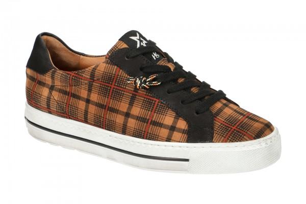 Paul Green Sneaker Schuhe braun Karo 4835