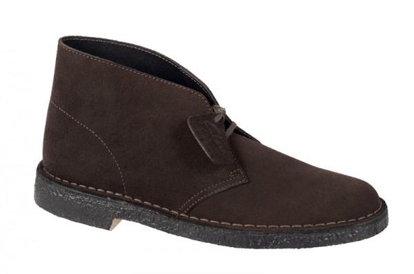 Clarks Desert Boots - Schuhe - dunkelbraun Velour 00111762