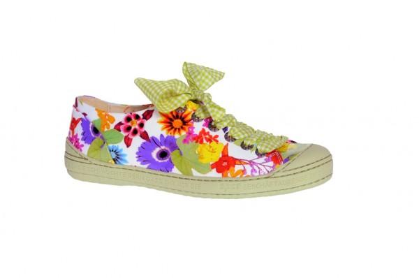 Eject Dass Schuhe weiß mit Blumenmuster Lack E-11207/3
