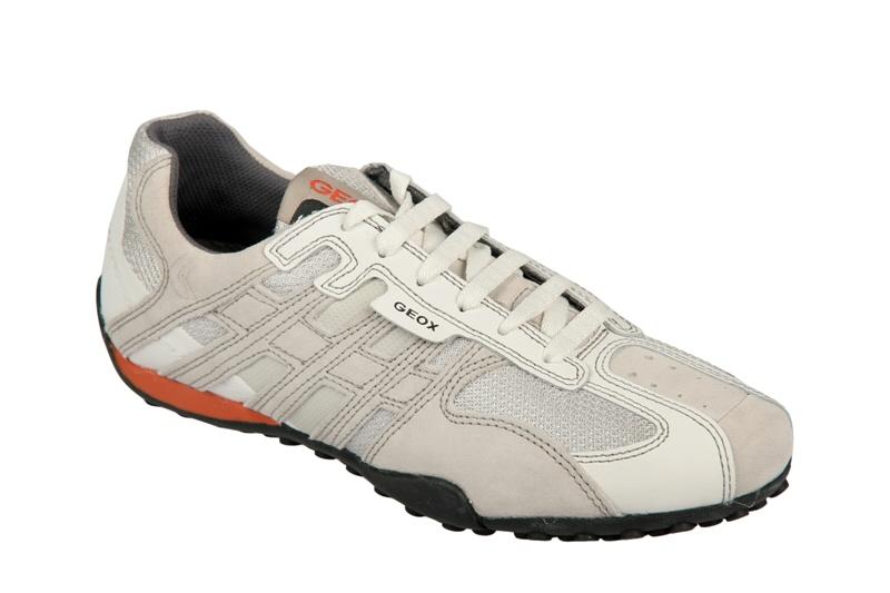 Geox Respira Schuhe Snake M weiß grau Sneaker