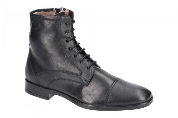 Bello Stiefelette schwarz Schaffell BL400A