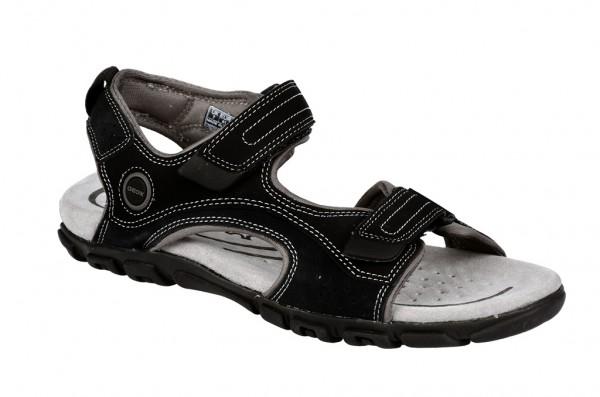 Geox S.Strada Sandale in schwarz grau U1124M
