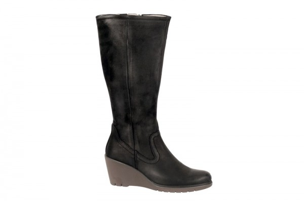 Ecco Adora Stiefel in schwarz Keilabsatz 232543