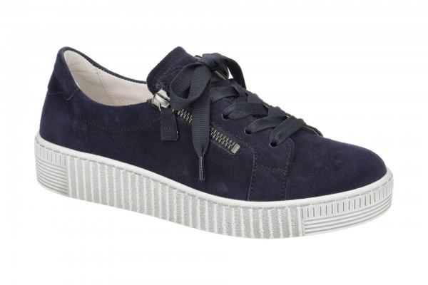 Gabor Schuhe blau Damen Sneakers 334