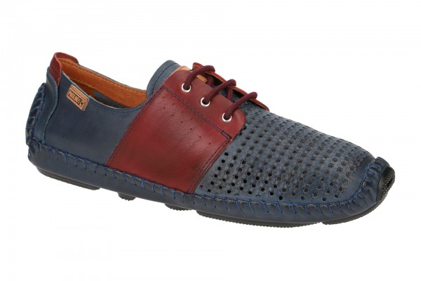 Pikolinos Jerez Schuhe blau rot gelocht 09Z-4280