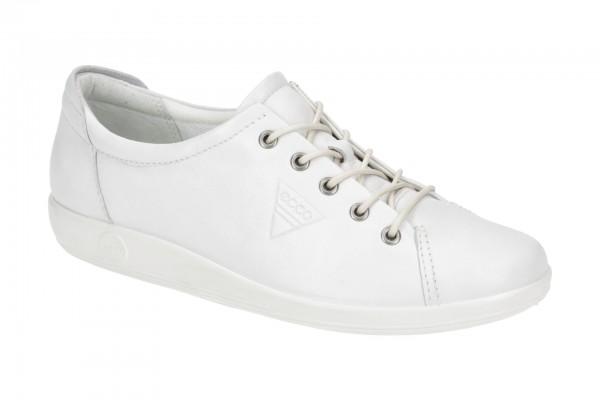 Ecco Soft 2 Schuhe weiß Damen Schnürer