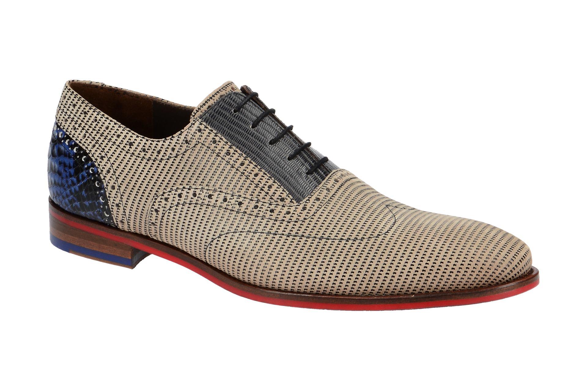 Details zu Floris van Bommel Schuhe 19114 beige Herrenschuhe elegante Halbschuhe 1911406