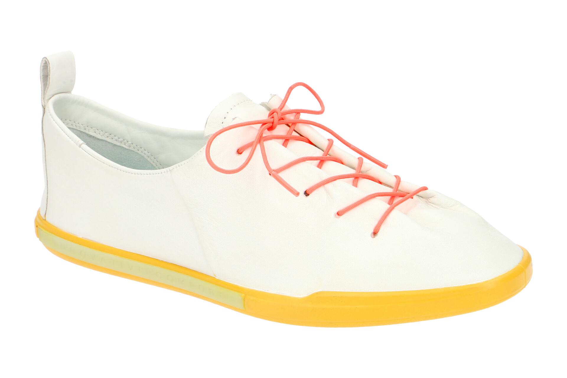 Ecco Simpil 2 Schuhe weiß gelb