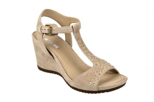 Geox Rorie Keil Sandale beige